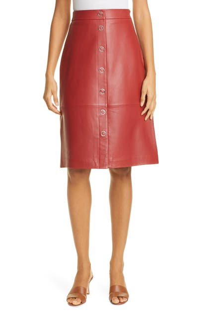 Ted Baker SNAP FRONT LEATHER PENCIL SKIRT