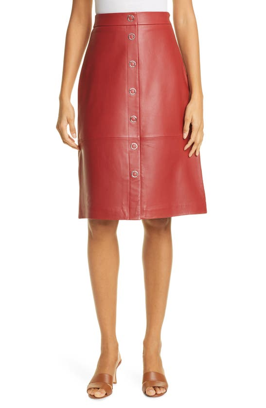 TED BAKER Skirts SNAP FRONT LEATHER PENCIL SKIRT
