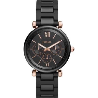 Fossil Carlie Multifunction Ceramic Bracelet Watch,