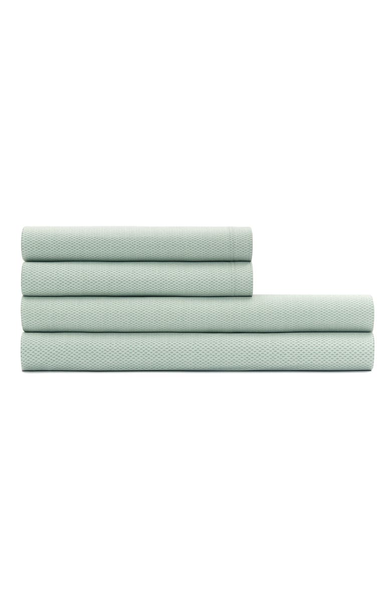 CALVIN KLEIN Micro Pulse 400 Thread Count Sheet Set, Main, color, SWELL