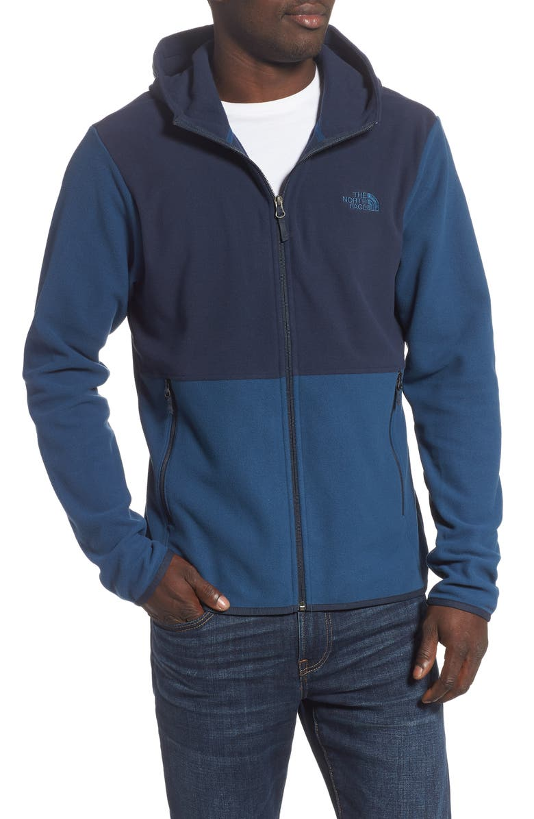 THE NORTH FACE Glacier Zip Hoodie, Main, color, BLUE WING TEAL/ URBAN NAVY
