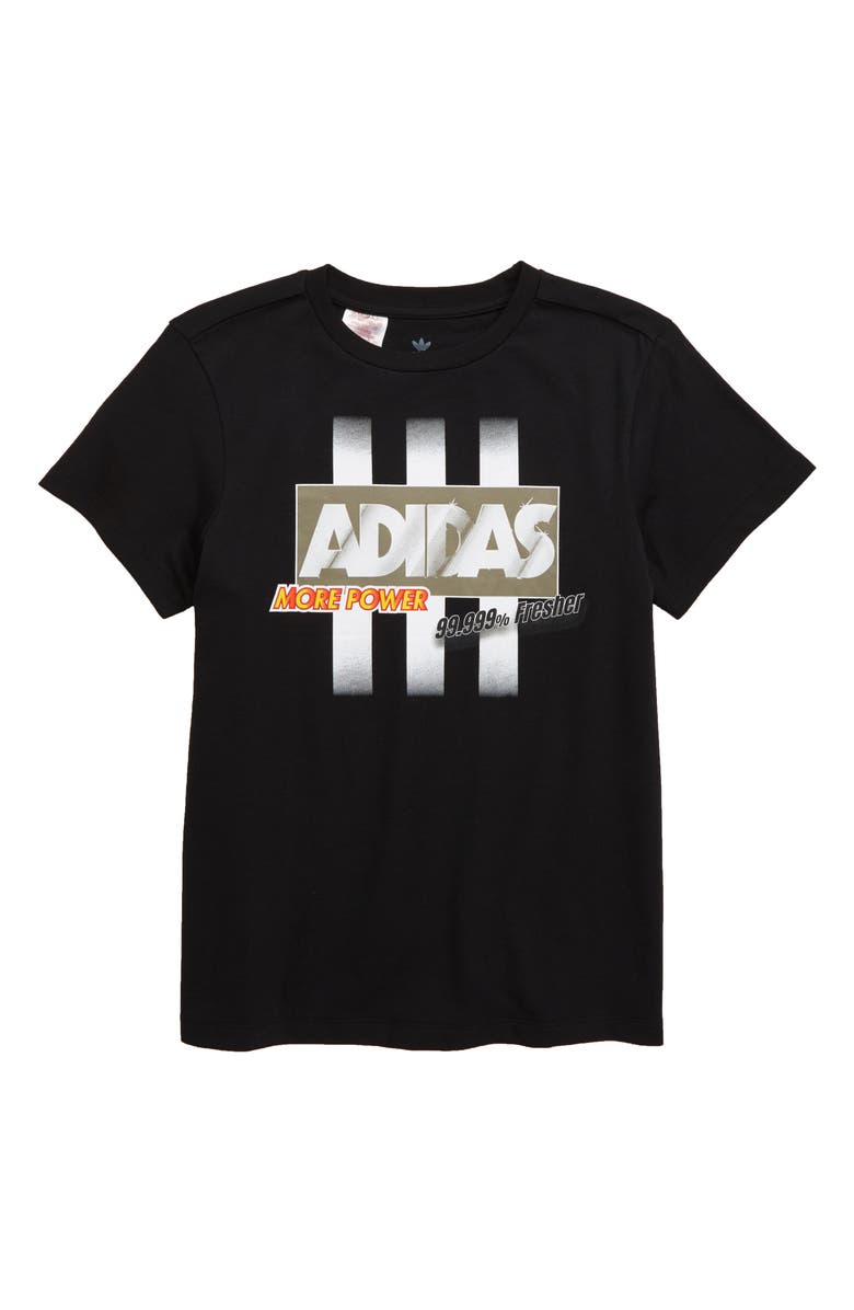 ADIDAS ORIGINALS Graphic T-Shirt, Main, color, BLACK