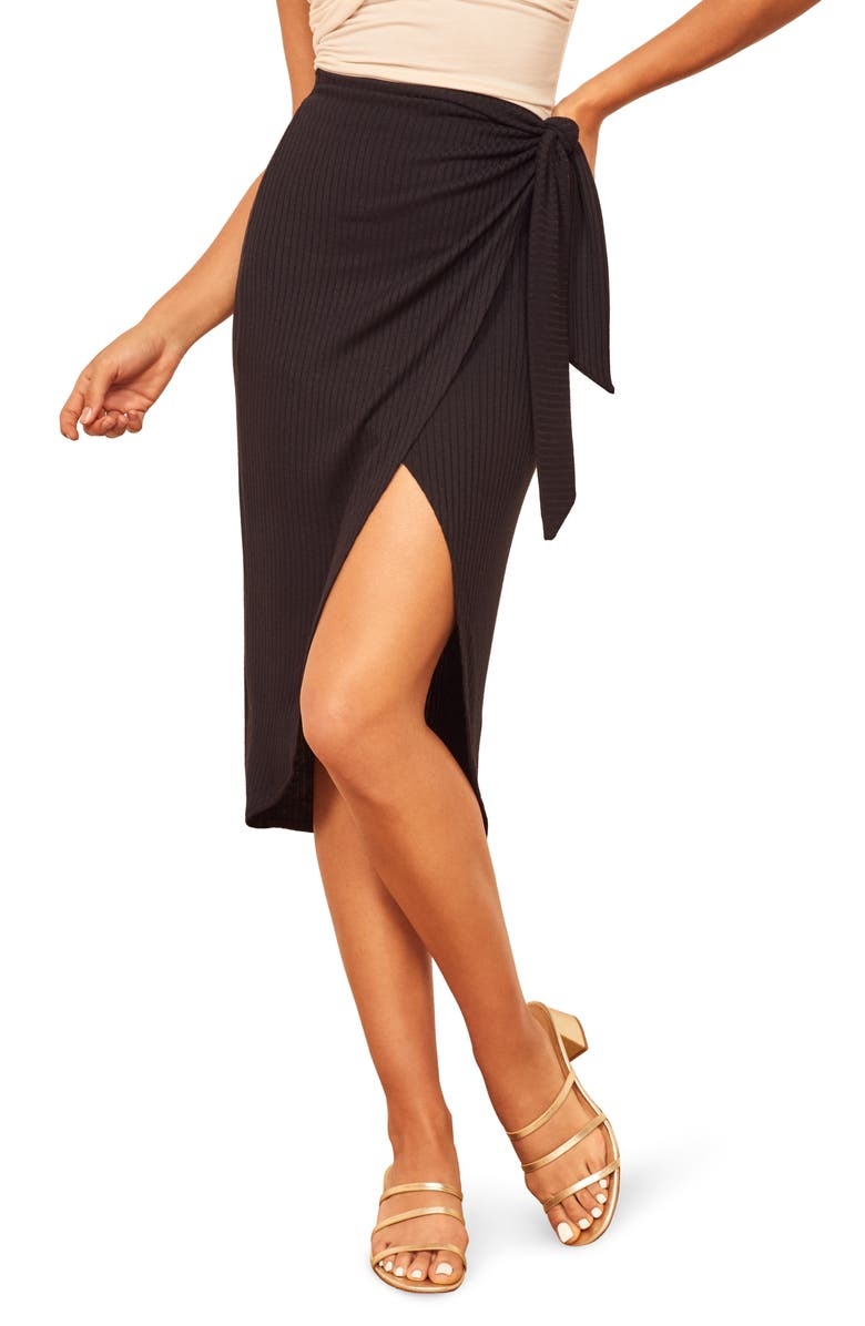Reformation Aruba Wrap Skirt