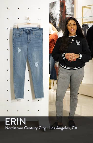Perfect Vintage Core Ripped High Waist Skinny Jeans, sales video thumbnail