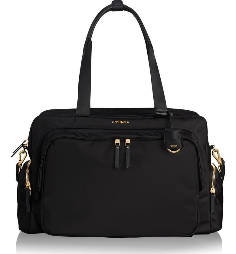 TUMI Voyageur Colina Nylon Duffle, Main, color, BLACK