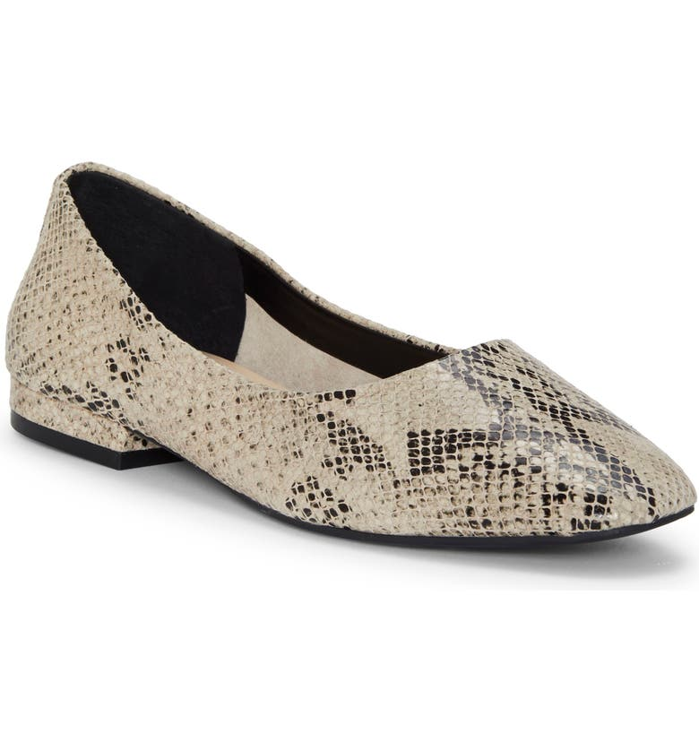 ENZO ANGIOLINI Lydian Skimmer Flat, Main, color, NATURAL MULTI LEATHER