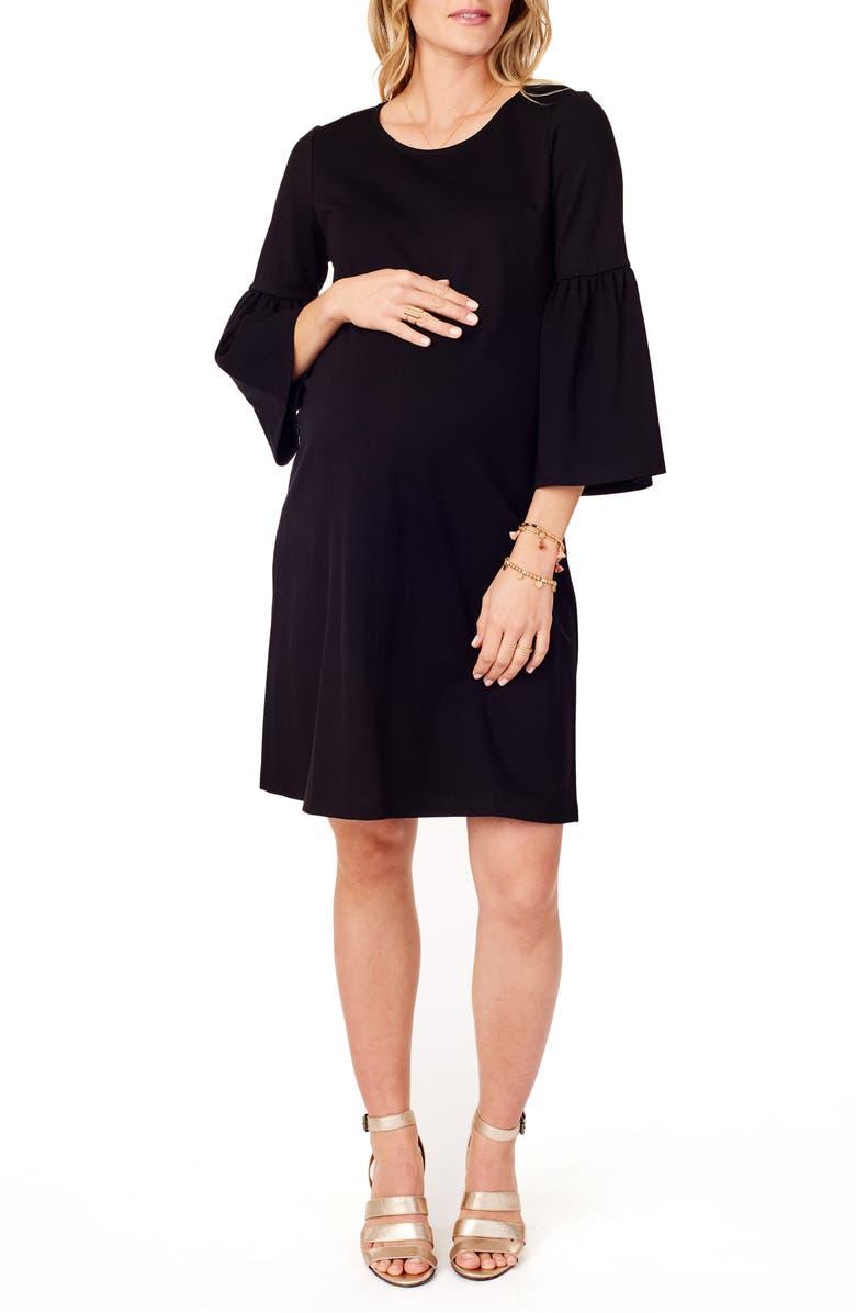 66603fb80b6c06 Ingrid & Isabel® Ponte Knit Bell Sleeve Maternity Dress | Nordstrom