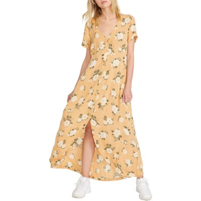 Volcom I Stay You Go Maxi Dress, Yellow