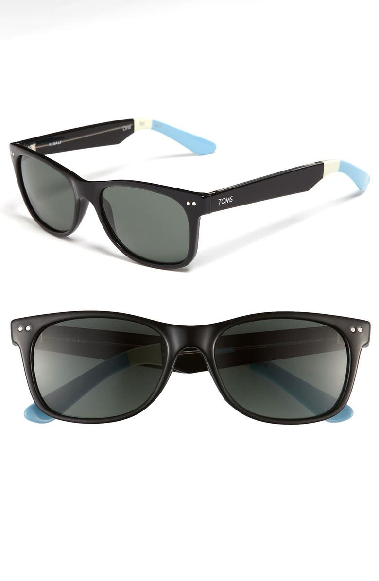 TOMS Beachmaster 55mm Polarized Sunglasses, Main, color, 001