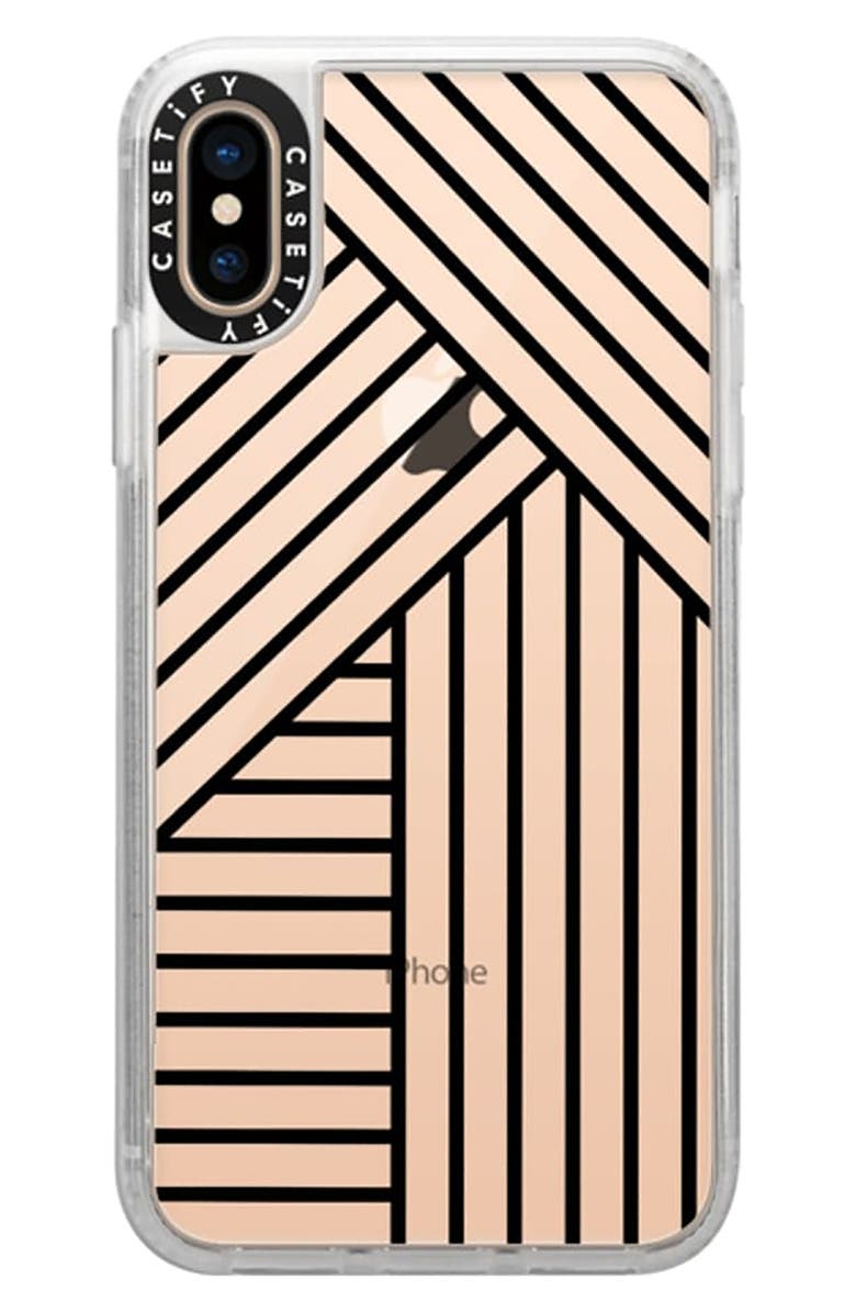 quality design 34a8c 7f03f Casetify Stripes Transparente iPhone X/Xs/XR & XS Max Case | Nordstrom