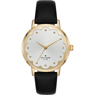 Kate Spade New York Metro Scallop Leather Strap Watch,