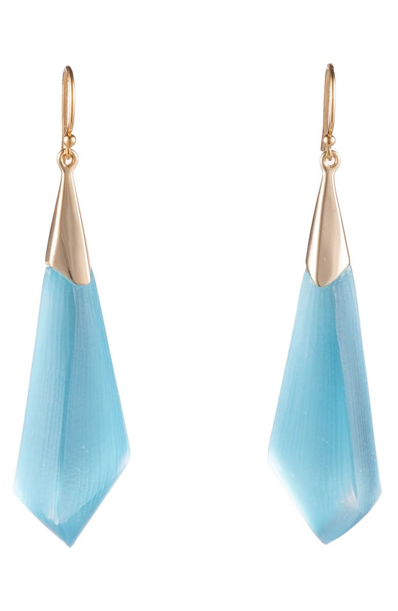 ALEXIS BITTAR Faceted Pendant Earring, Main, color, LIGHT TURQUOISE