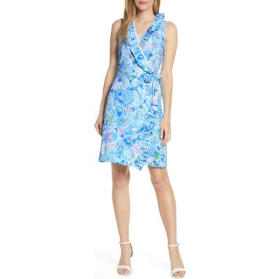 Lilly Pulitzer Romee Wrap Dress, Blue