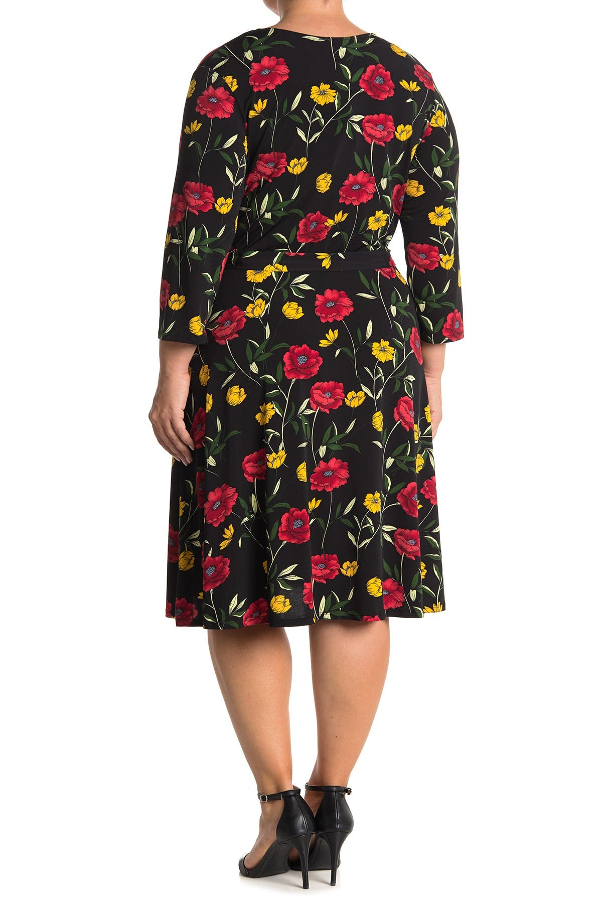 Image of Leota Belted Fit & Flare Dress