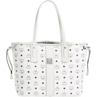 Mcm Medium Liz Reversible Shopper - White
