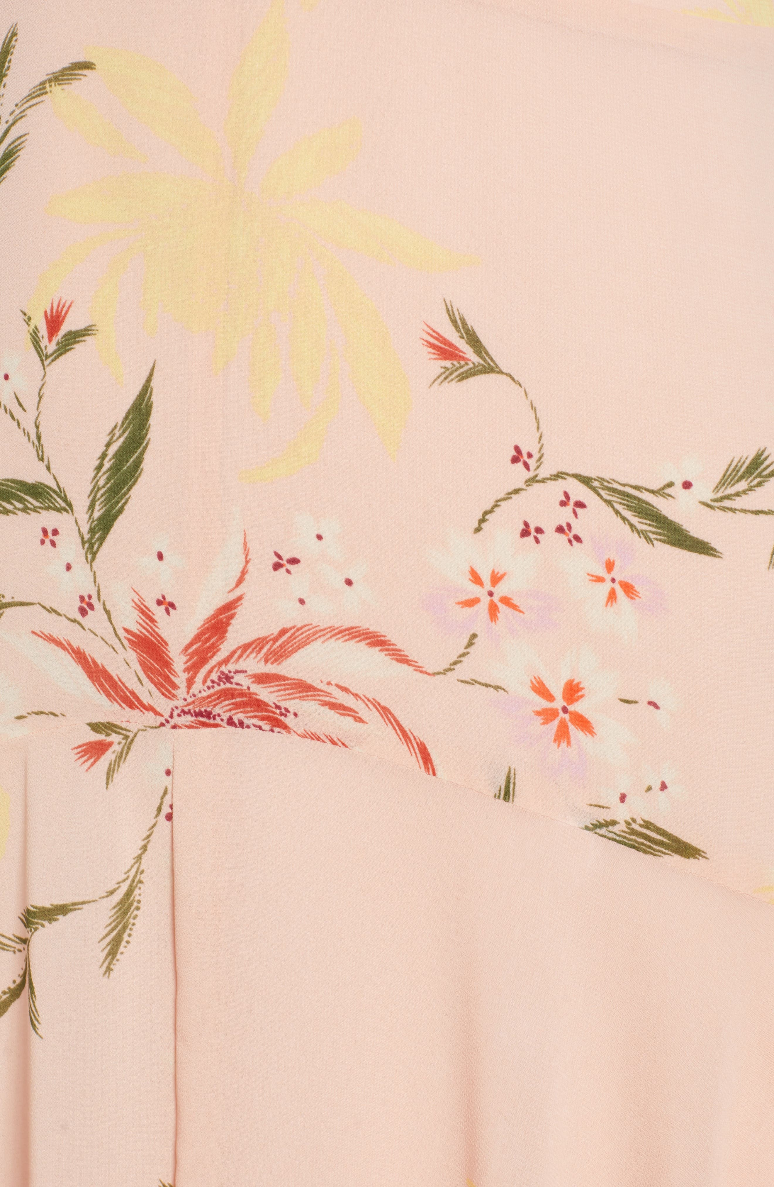,                             Ruffle Detail High/Low Sleeveless Maxi Dress,                             Alternate thumbnail 6, color,                             950