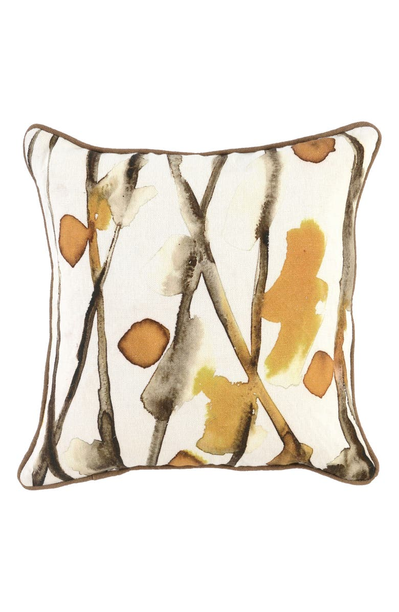VILLA HOME COLLECTION Sundew Accent Pillow, Main, color, GOLD