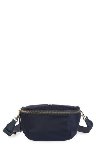 Kate Spade Medium Taylor Nylon Belt Bag - Blue In Rich Navy