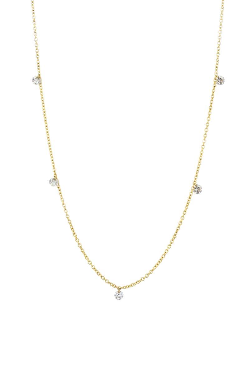 BONY LEVY Floating Diamond Necklace, Main, color, 710