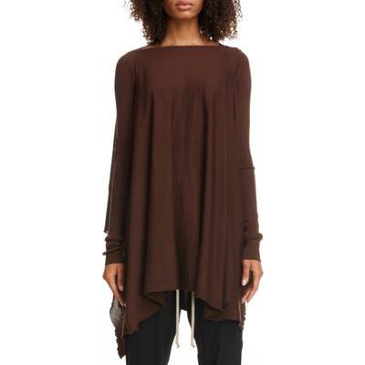 Rick Owens Multi Way Wool Sweater, Brown