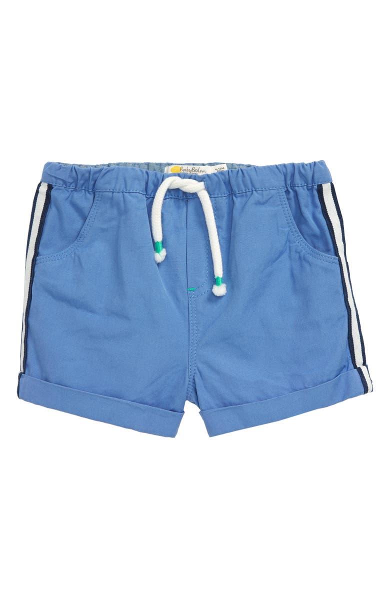 MINI BODEN Side Stripe Shorts, Main, color, SEASCAPE BLUE