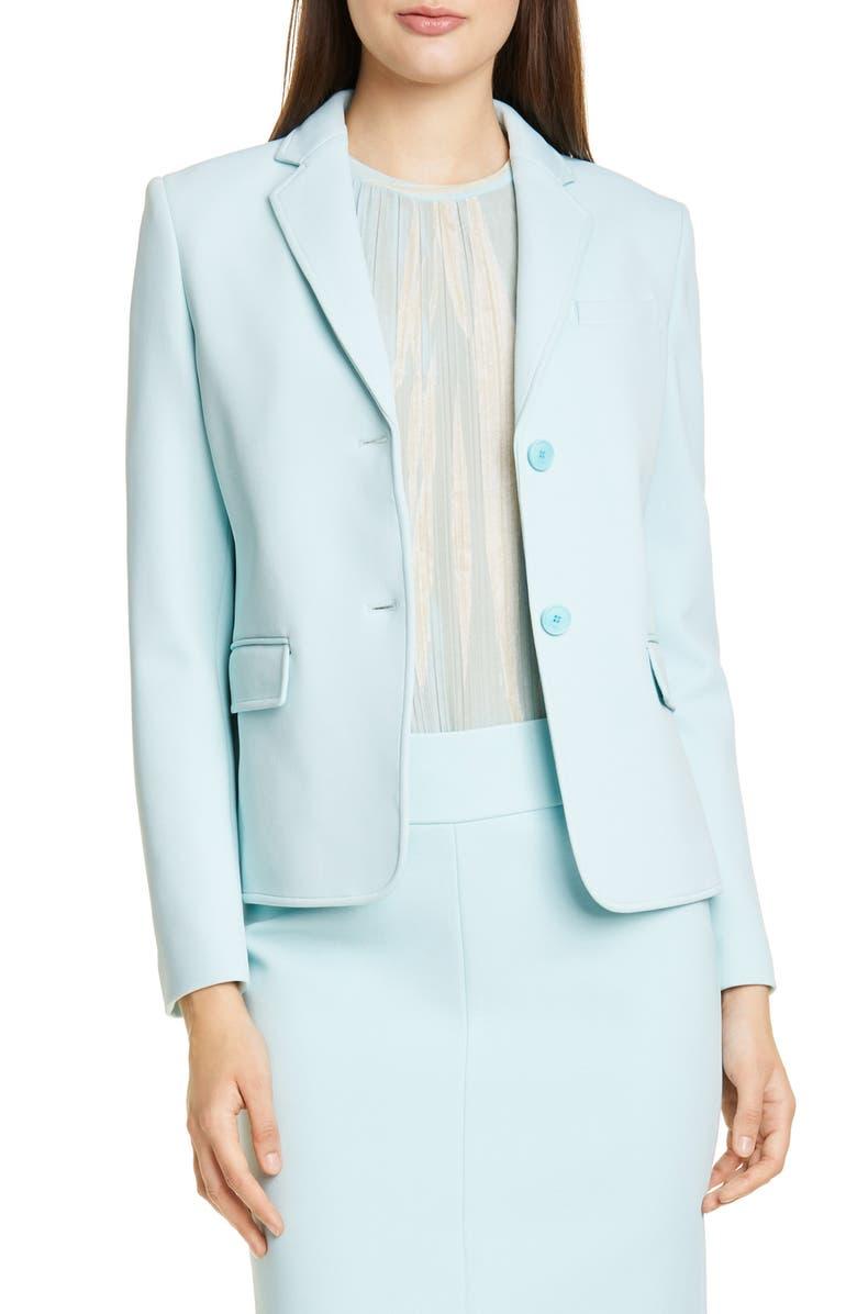 BOSS Jomanda Jersey Suit Jacket, Main, color, 460