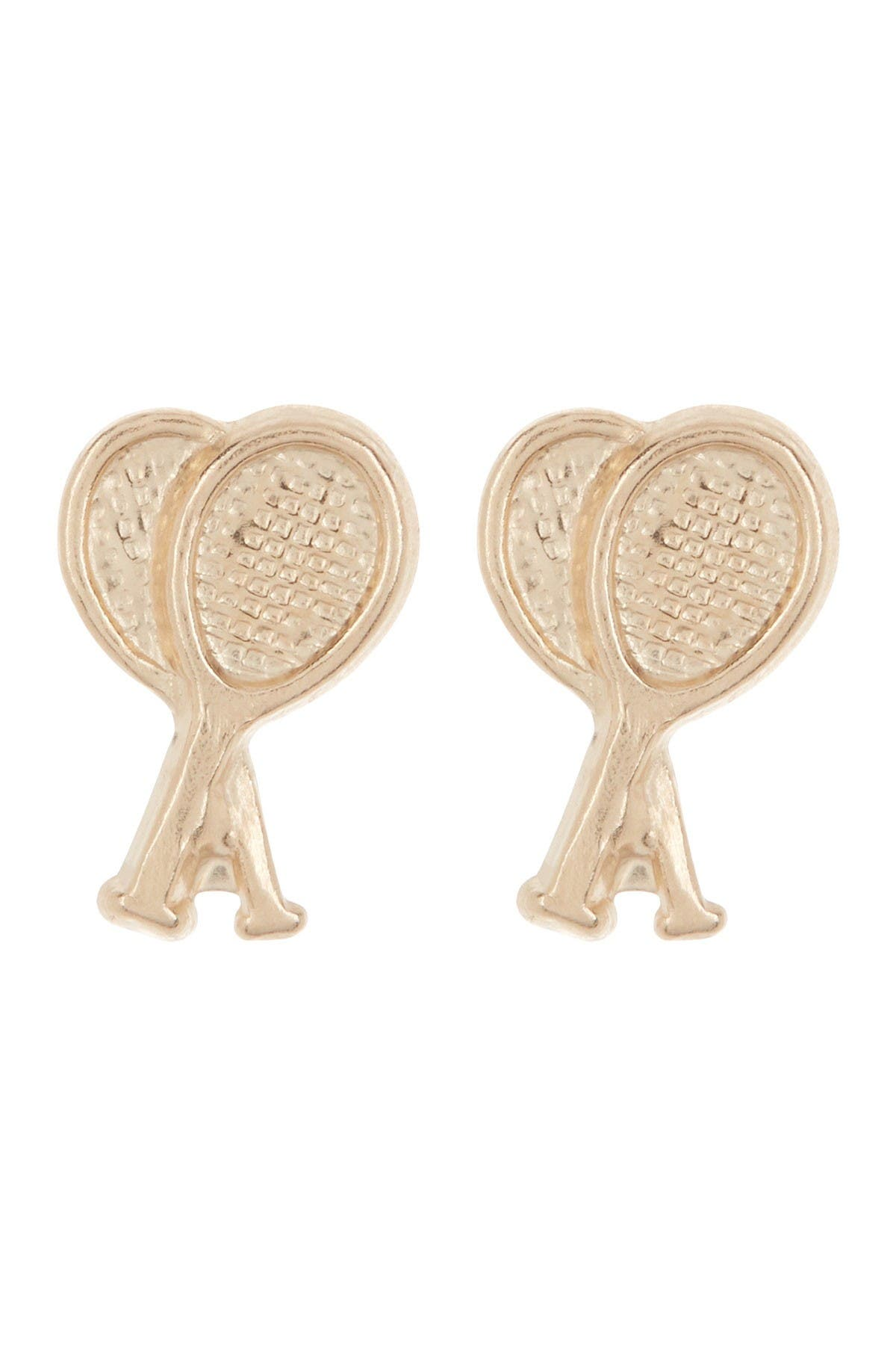 Image of Candela 10K Yellow Gold Tennis Racquet Stud Earrings