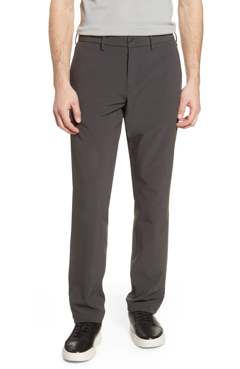 NORDSTROM MEN'S SHOP Tech-Smart Slim Fit Performance Chinos, Main, color, GREY PHANTOM