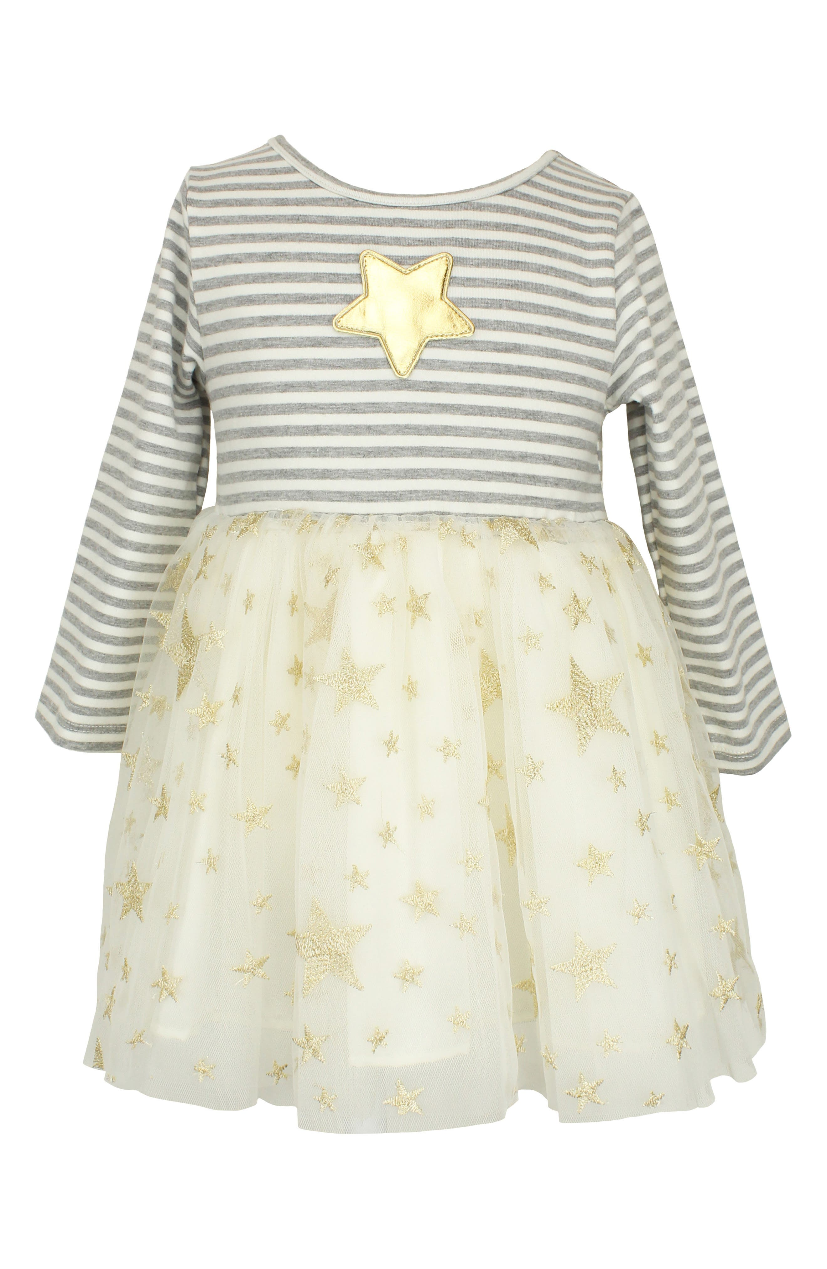 Image of Popatu Star Applique Long Sleeve Dress
