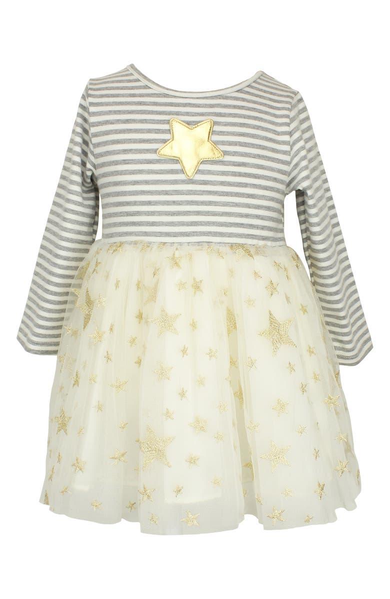 POPATU Stripe & Star Tulle Dress, Main, color, CREAM