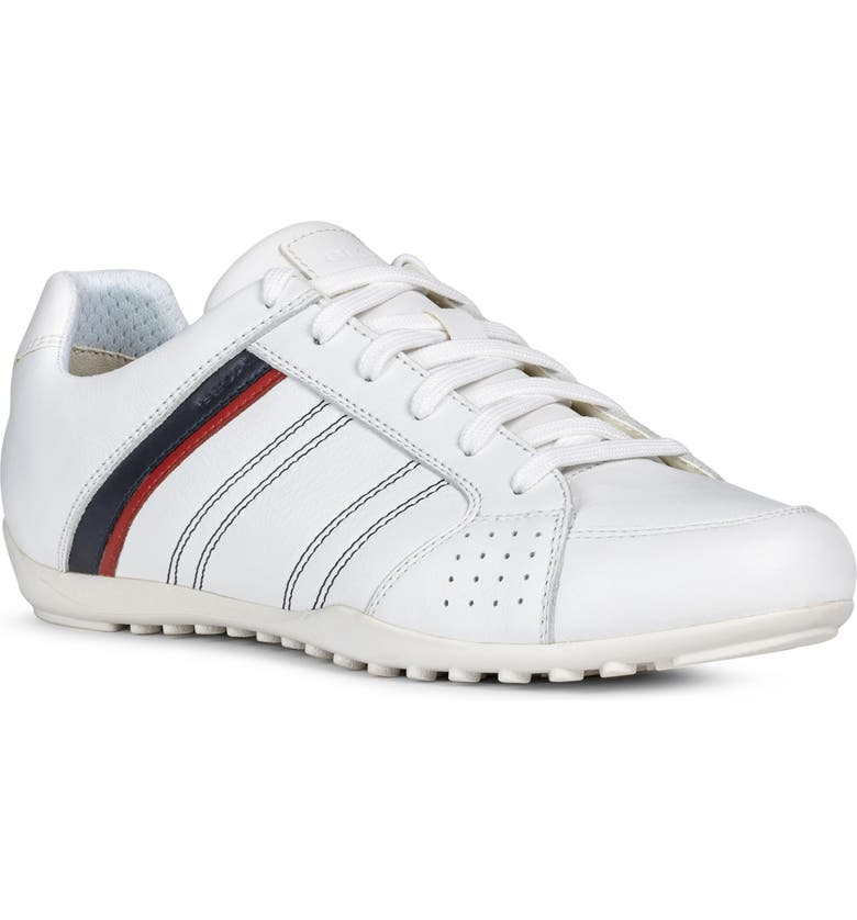 GEOX Wells 11 Sneaker, Main, color, WHITE
