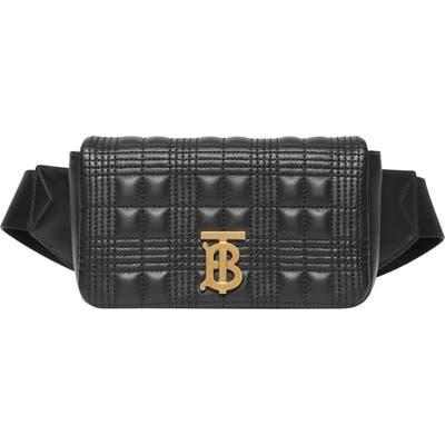 Burberry Lola Quilted Leather Belt Bag - Black