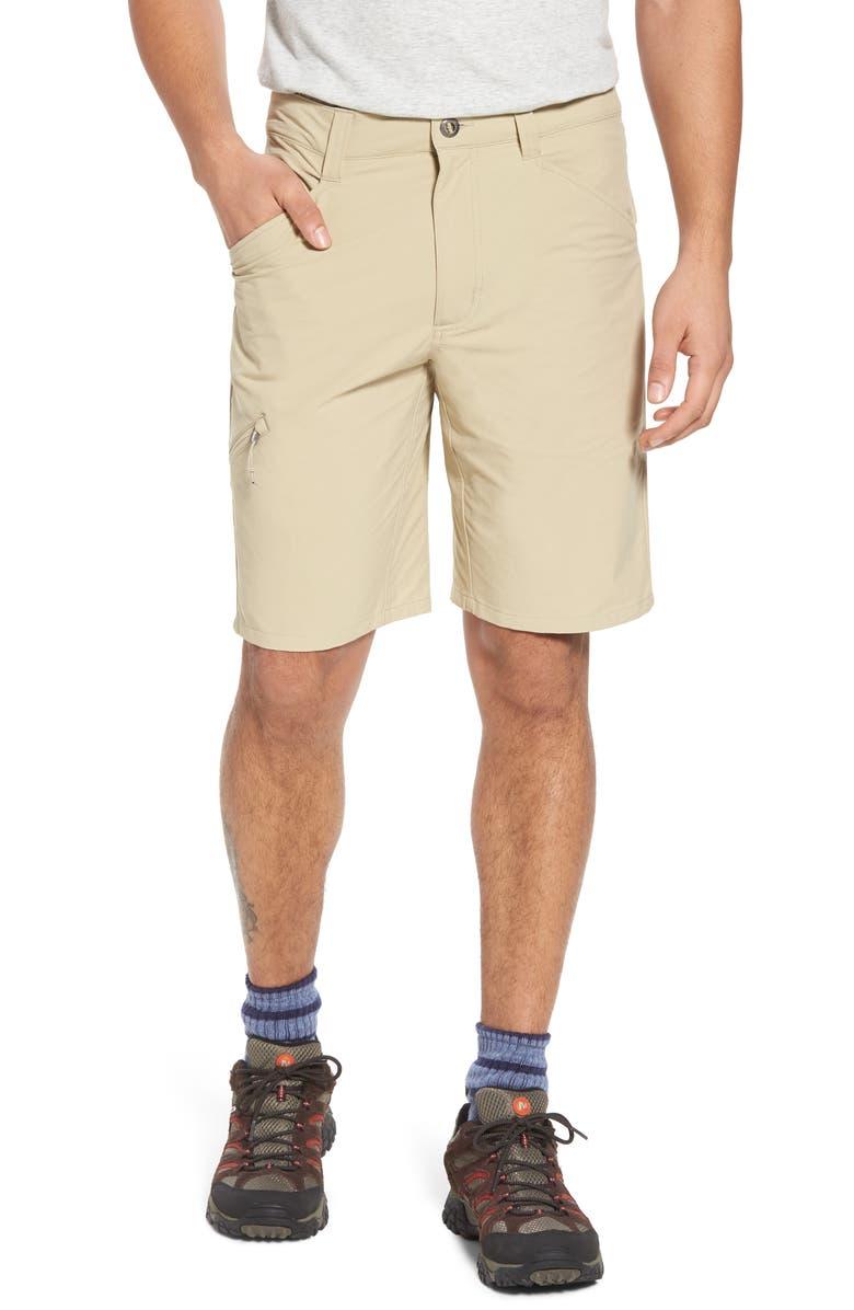 PATAGONIA Quandary Water Repellent Stretch Hiking Shorts, Main, color, EL CAP KHAKI