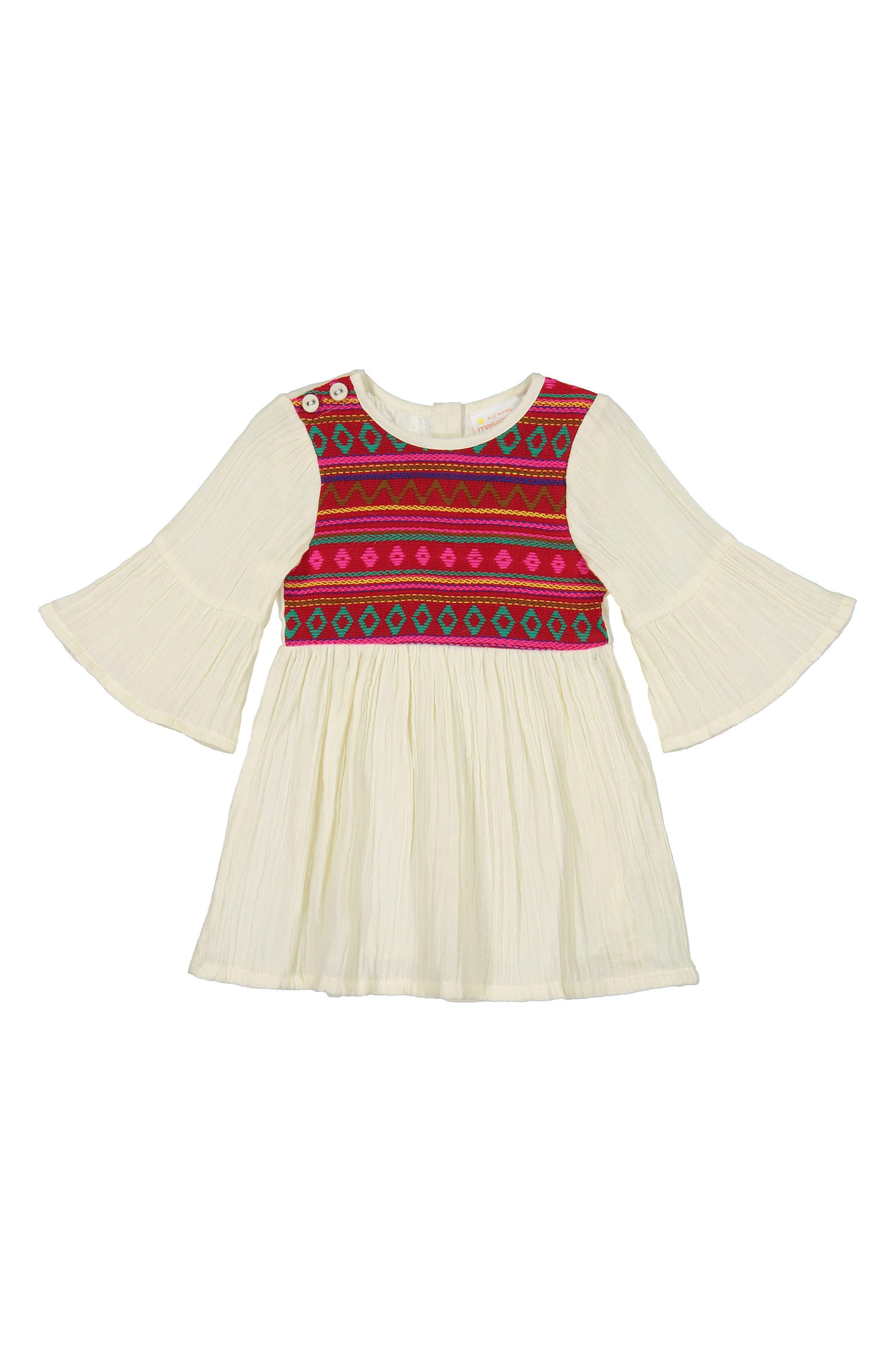 Simple Jacquard Dress, Main, color, 600