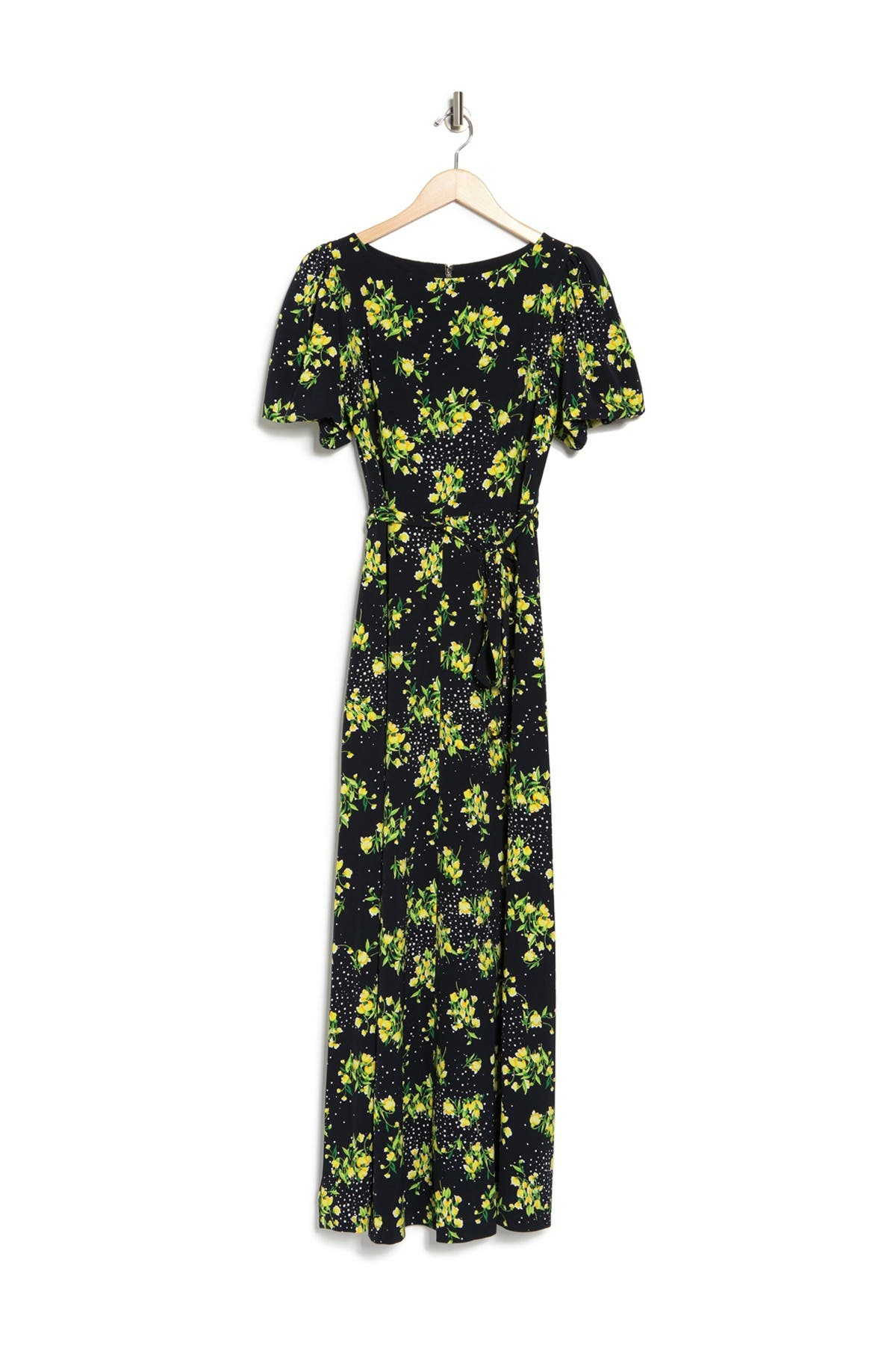Tommy Hilfiger FLORAL PUFF SLEEVE MAXI DRESS