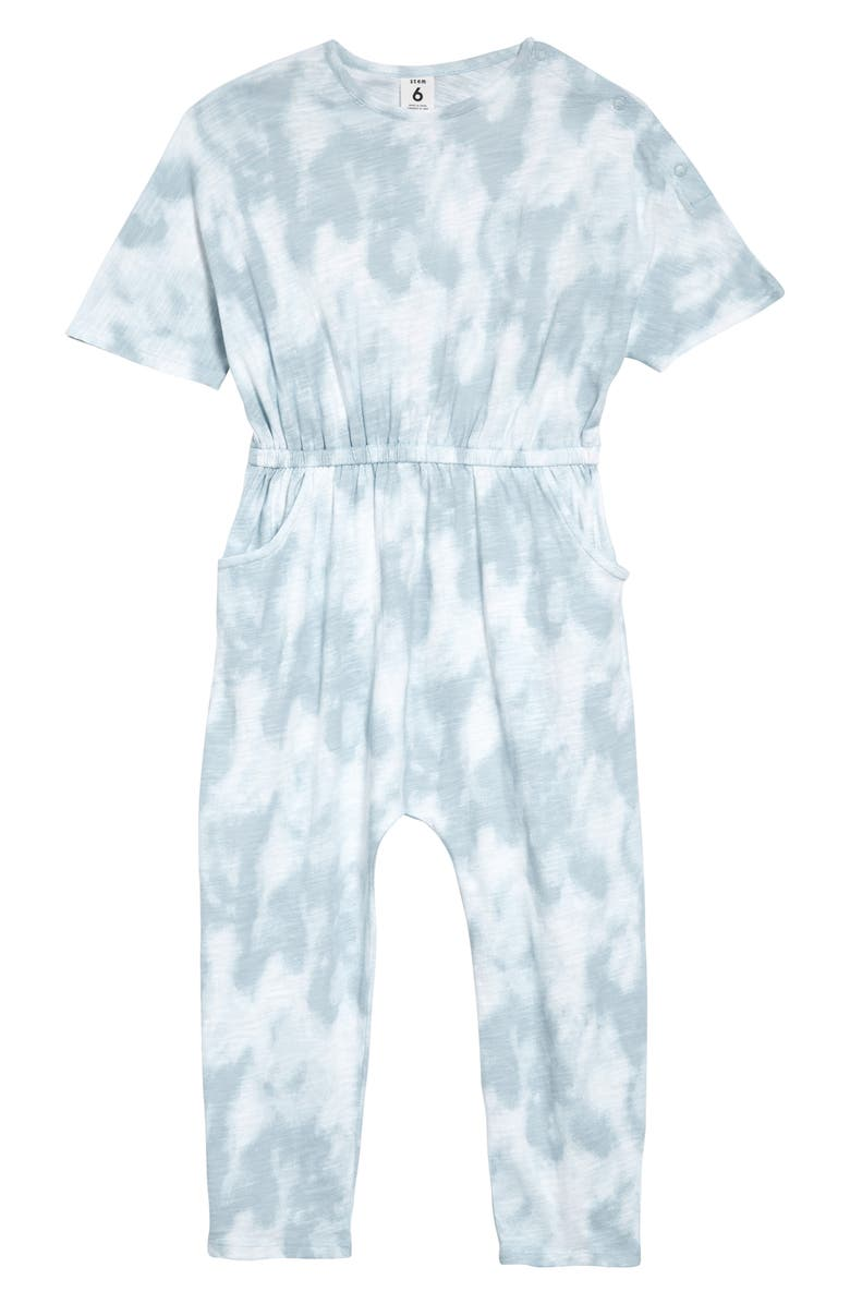 STEM Organic Cotton Jumpsuit, Main, color, BLUE DRIFT TIE DYE
