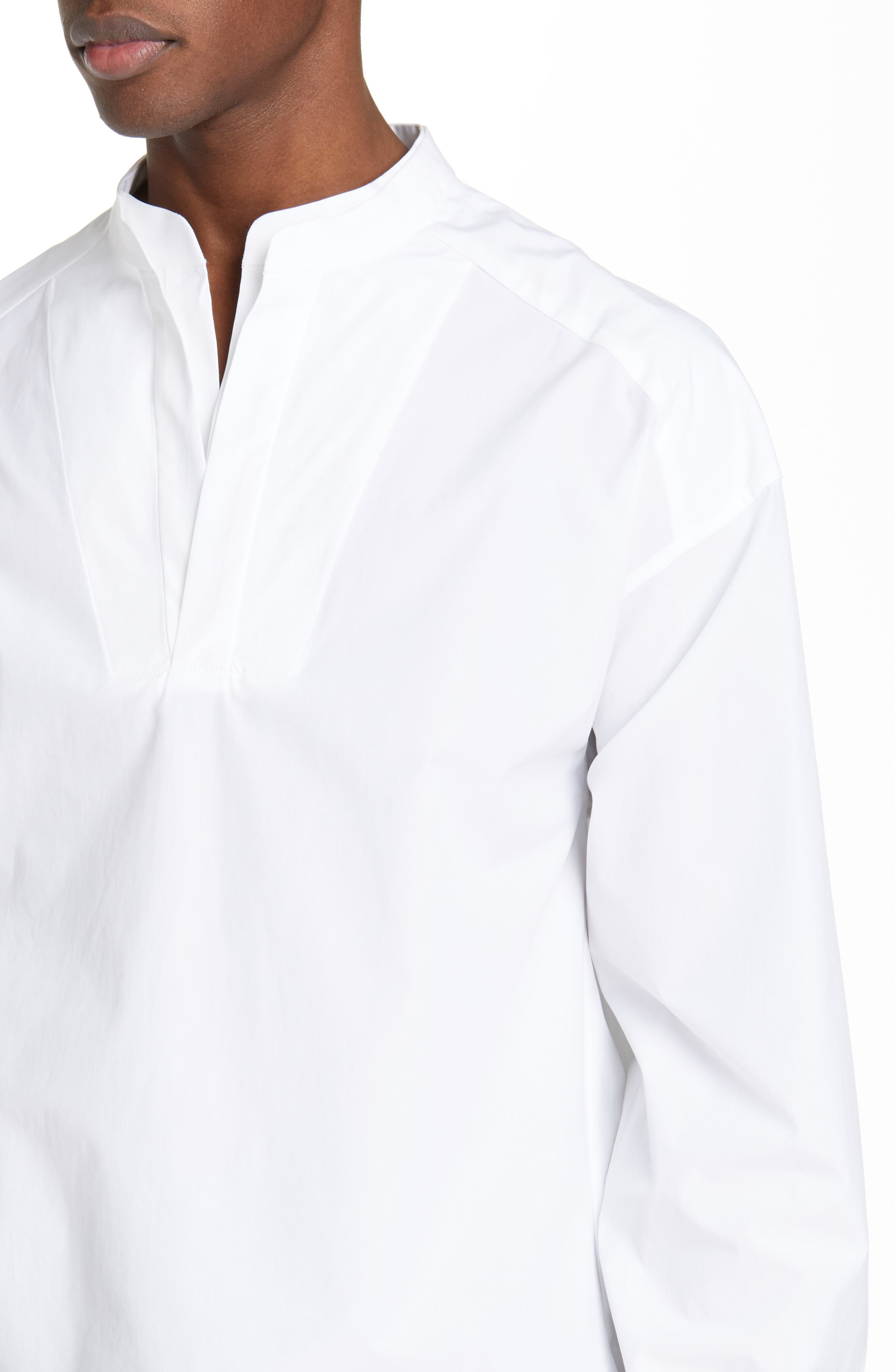 ,                             Mandarin Collar Shirt,                             Alternate thumbnail 7, color,                             100