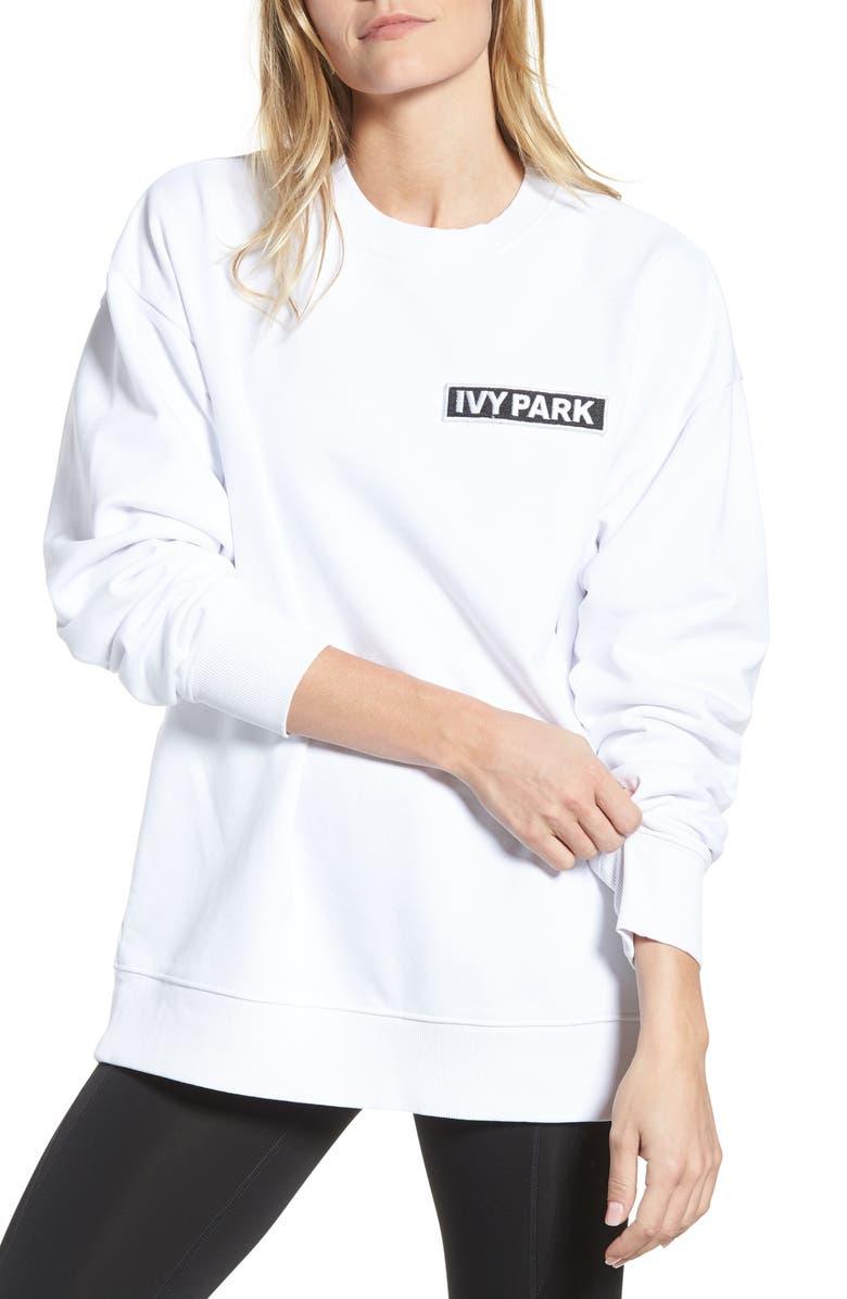 IVY PARK<SUP>®</SUP> Flag Badge Sweatshirt, Main, color, 100