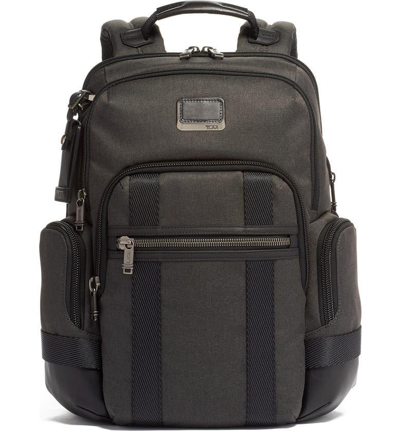 TUMI Alpha Bravo Nathan Expandable Backpack, Main, color, GRAPHITE
