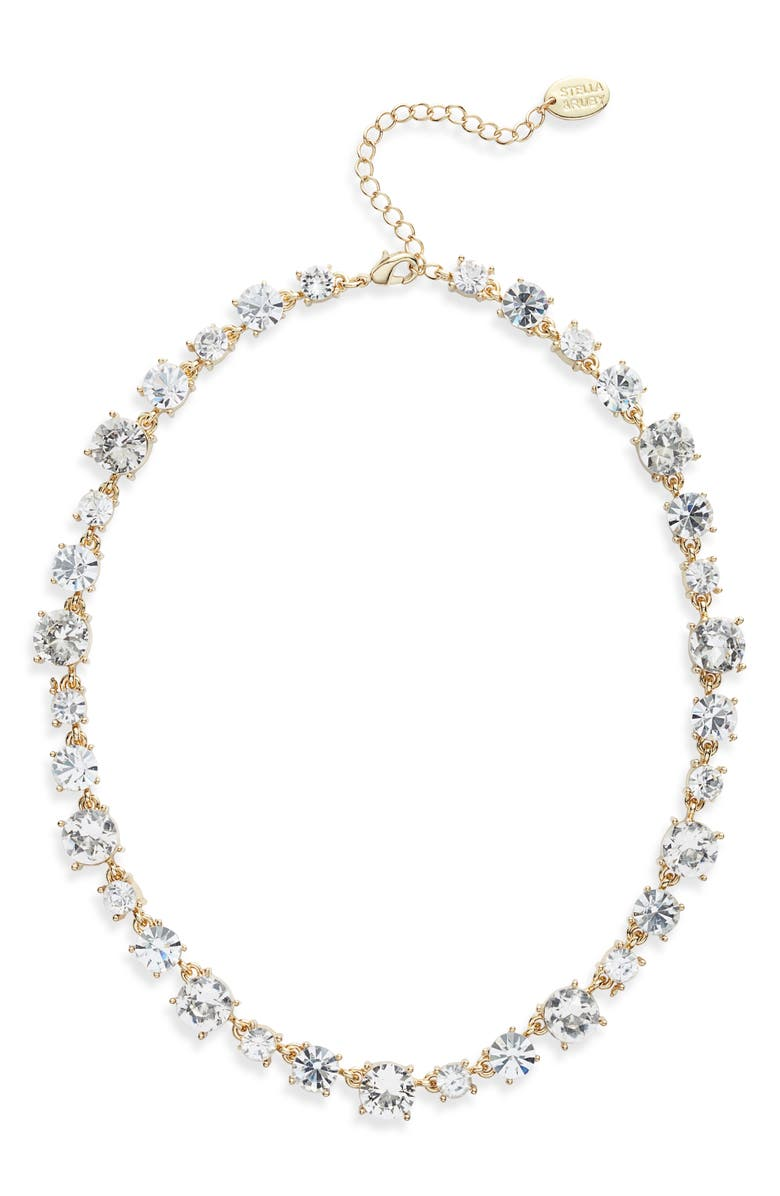 STELLA + RUBY Josie Necklace, Main, color, GOLD/ CRYSTAL