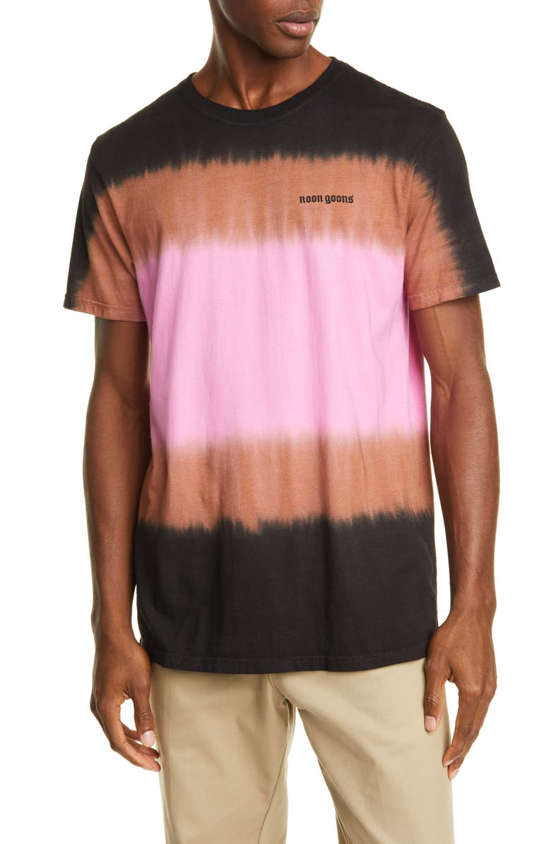 NOON GOONS Max Dyed T-Shirt, Main, color, BLACK/ BROWN/ PINK