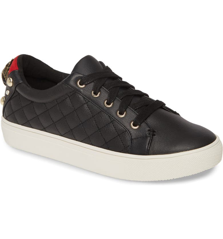 KURT GEIGER LONDON Ludo Sneaker, Main, color, BLACK LEATHER