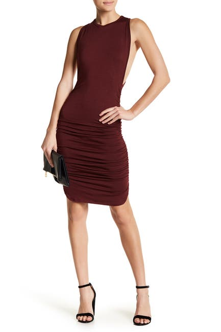 Image of Go Couture Ruched Racerback Dress