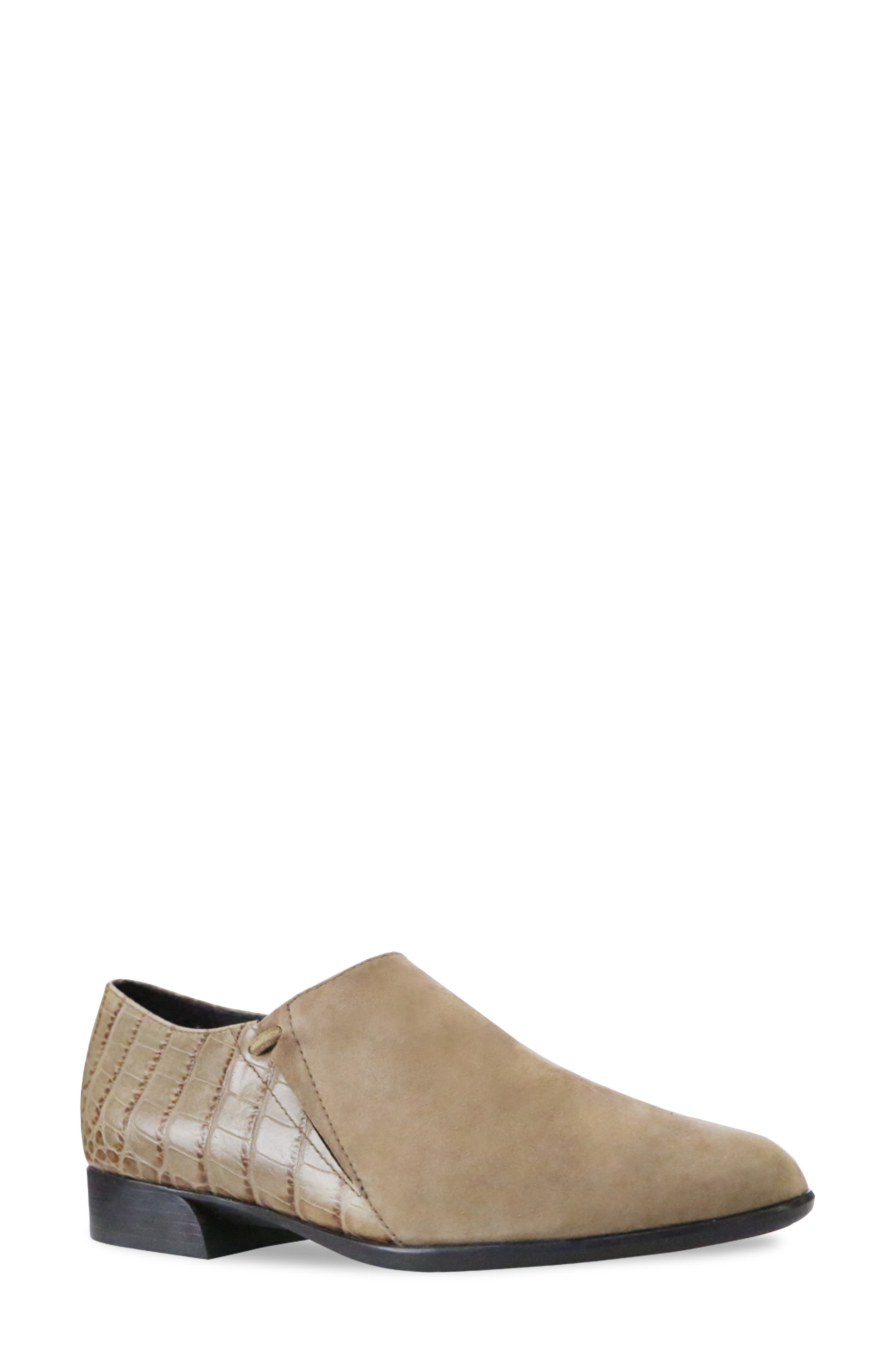 Mixed textures elevate the contemporary appeal of an almond-toe flat furnished with a breathable, moisture-wicking lining. Style Name: Munro Marteen Flat (Women). Style Number: 6093594. Available in stores.