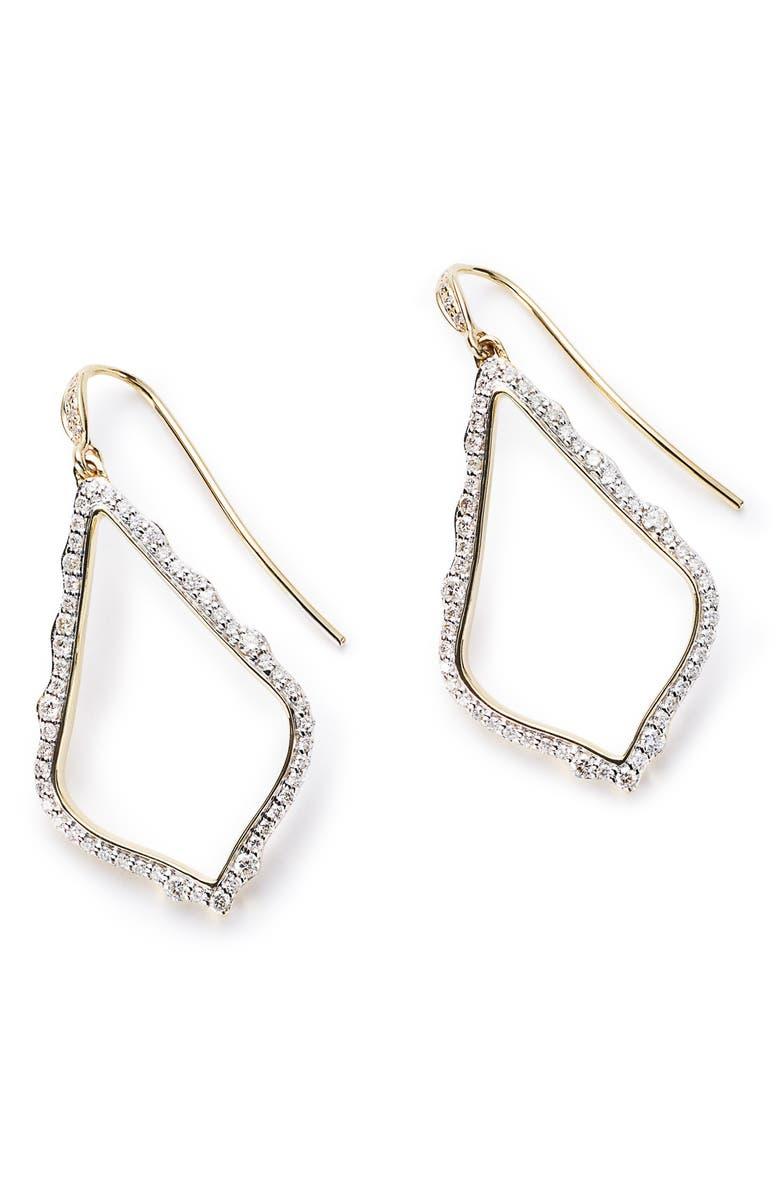 KENDRA SCOTT Sophia Diamond & Gold Drop Earrings, Main, color, 14K GOLD WHITE DIAMOND