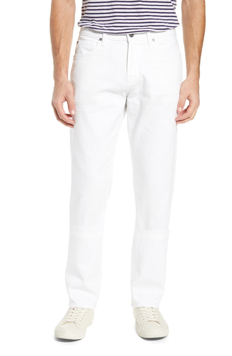 7 FOR ALL MANKIND<SUP>®</SUP> Adrien AirWeft Slim Fit Jeans, Main, color, WHITE
