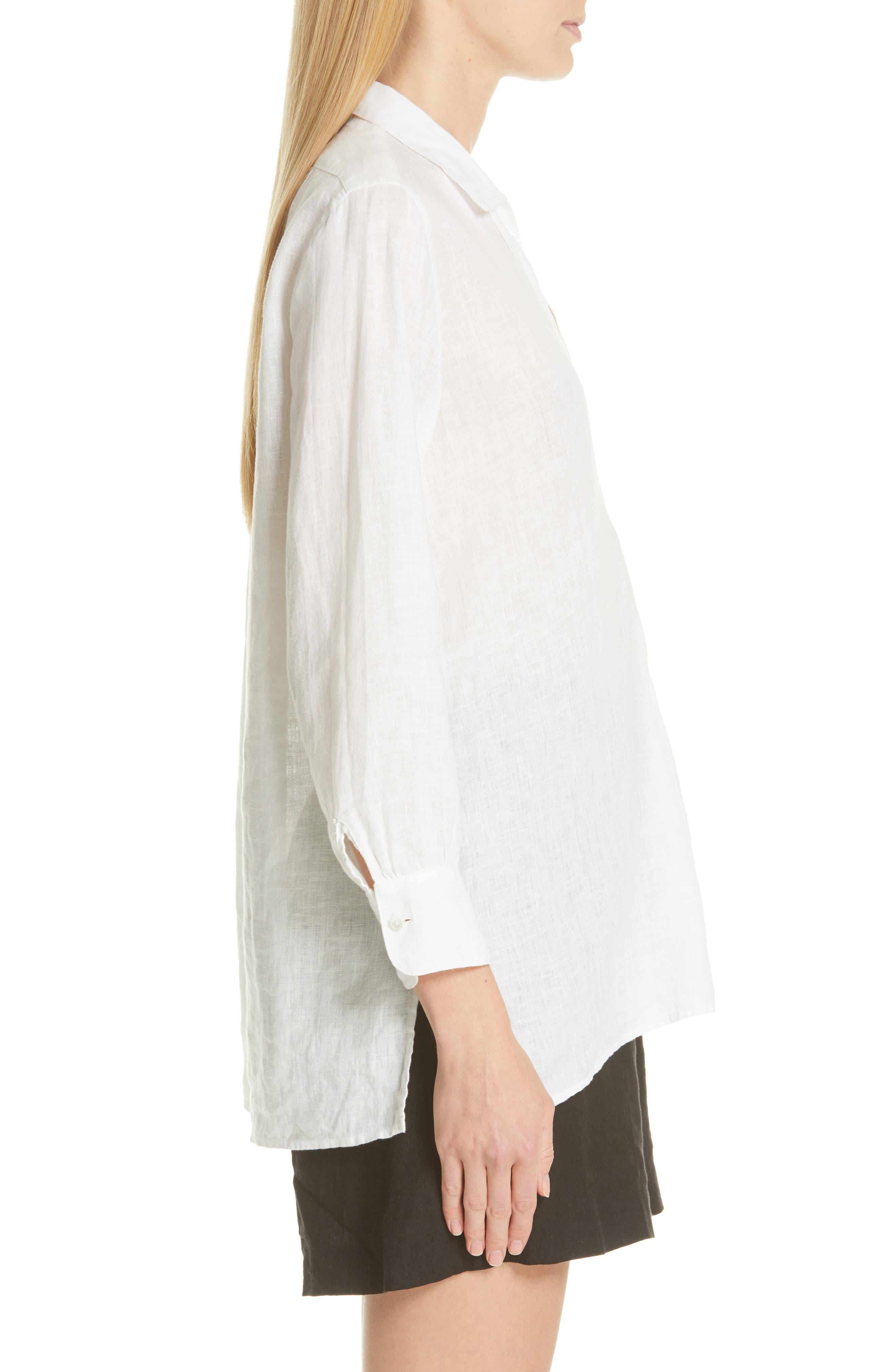 ,                             Emma Linen Shirt,                             Alternate thumbnail 3, color,                             NATURAL