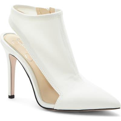Jessica Simpson Pimrah Pointy Toe Bootie, White