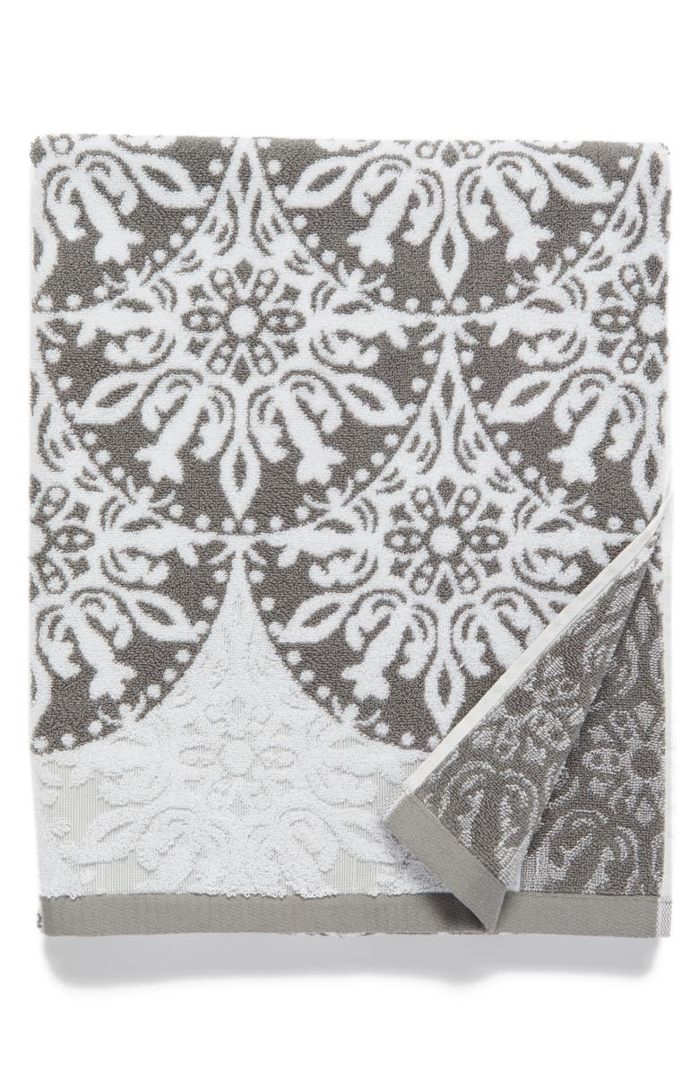 NORDSTROM at Home Fan Ombré Jacquard Bath Towel, Main, color, 021