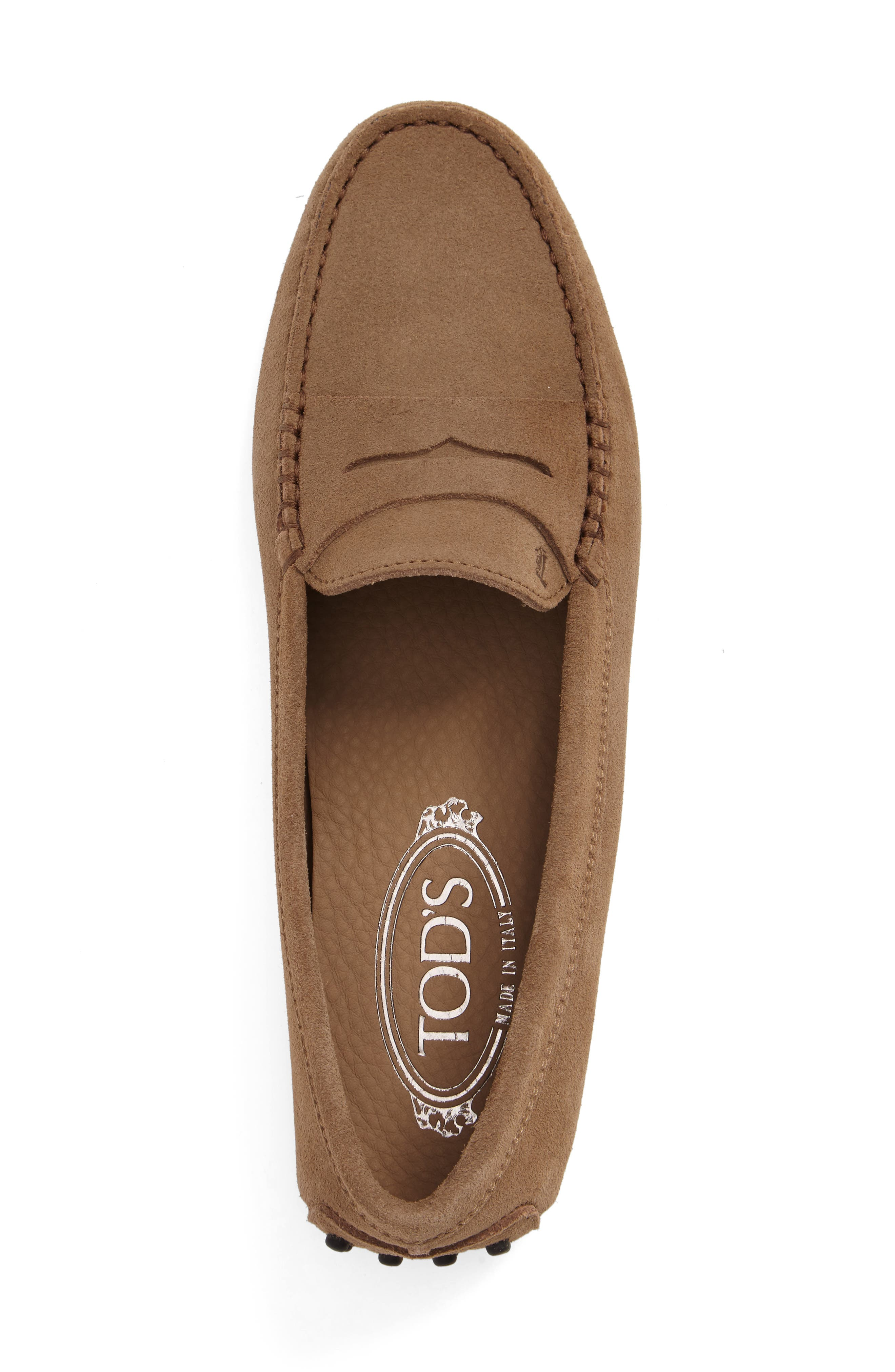 ,                             'Gommini' Moccasin,                             Alternate thumbnail 4, color,                             TOBACCO
